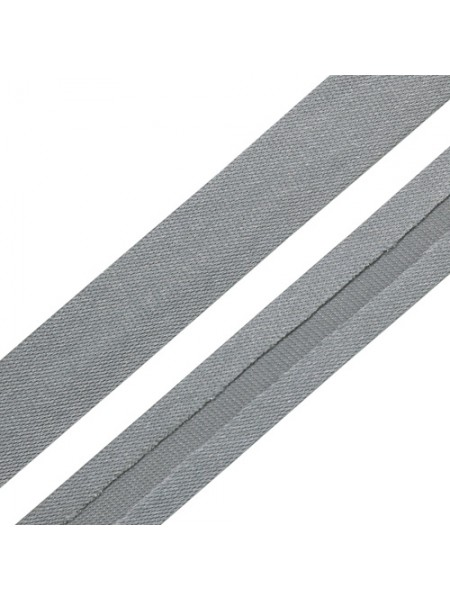 Косая бейка,цв-серый,15мм. Цена за 1 м