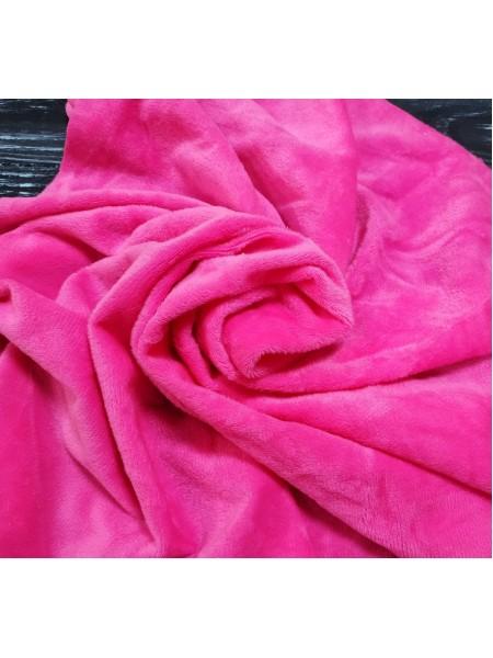 Велюр(плюш),цв-конфетно-розовый,50*50 см