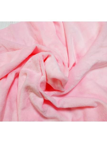 Велюр(плюш) розовый, размер 50*50 см