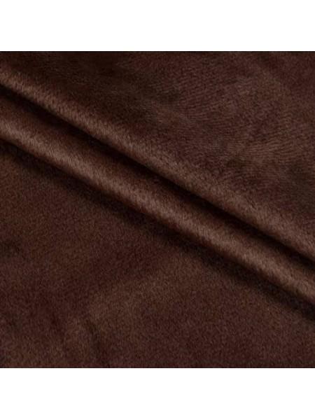 Велюр(плюш),50*50см,цв-тёмно-коричневый