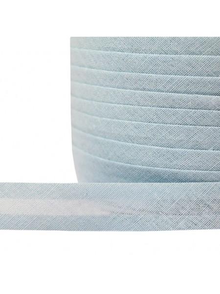 Косая бейка,цв-голубой,хлопок,15мм. Цена за 1 м
