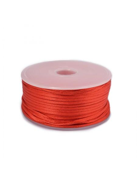 Атласный шнур,2 мм. красный,цена за 1 метр