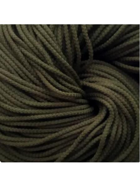 Полиэфирный шнур для вязания,4мм,цв-тёмный хаки,100м