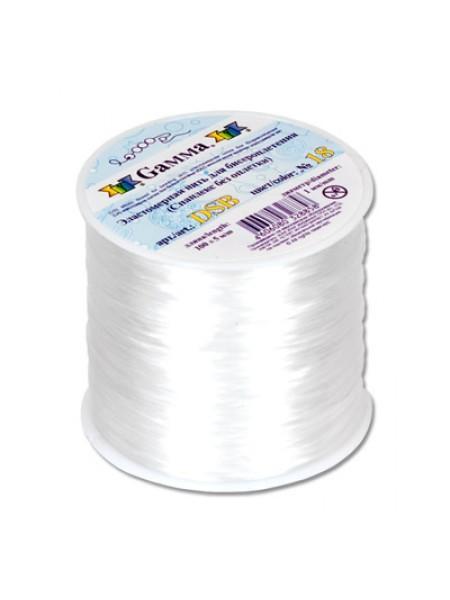 Резинка для бисера, (эластомерная нить)1мм.белая-100 метров
