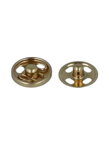 Кнопки пришивные металл-золото,10мм,в уп. 10 кнопок