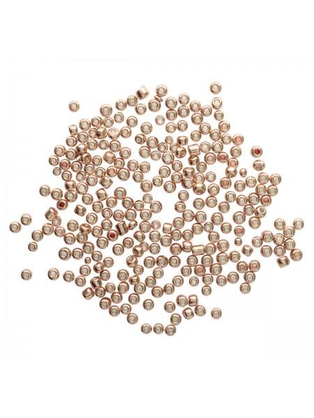 Бисер, (стекло)-Астра,, 6/0(крупный), упак./15 гр., цв- т.золотой/глянц.покрытие