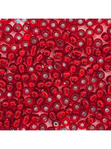 Бисер, (стекло)-Астра,, 6/0(крупный), упак./15 гр., цв-красный