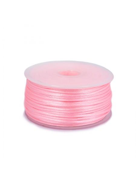 Атласный шнур,2 мм. розовый,цена за 1 метр