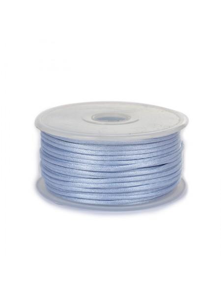 Атласный шнур,2 мм.голубой,цена за 1 метр