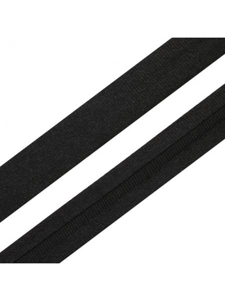 Косая бейка,цв-чёрная,15мм. Цена за 1 м