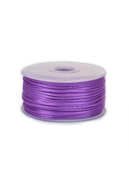 Атласный шнур,2 мм. фиолетовый,цена за 1 метр