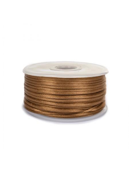 Атласный шнур,2 мм.коричневый,цена за 1 метр