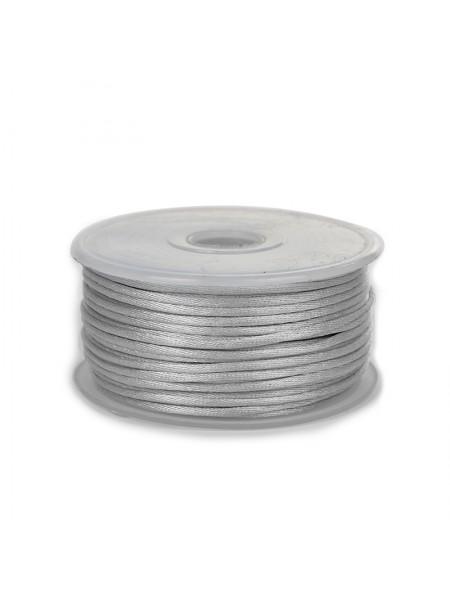 Атласный шнур,2 мм. серый,цена за 1 метр