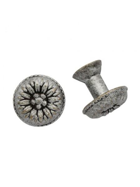 Декоративная  ручка для шкатулок(серебро) 15*17мм, цена за 2 шт
