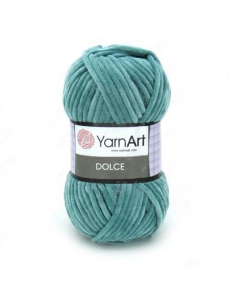 Плюшевая пряжа Dolce YarnArt,№770 ,цв-бирюзовый,100гр