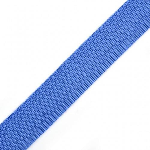 Стропа-ременная лента, 25 мм,цв-голубой,плетение ёлочка.цена за 1 м