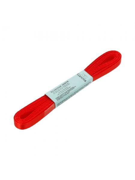 Лента атласная,6мм, в уп.5,4м,№026,цв-красный.Цена за уп