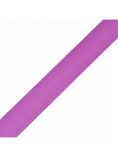 Стропа-ременная лента, 25 мм,цв-сиреневый,плетение ёлочка.цена за 1 м
