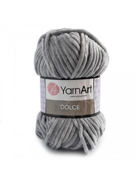 Плюшевая пряжа Dolce YarnArt,№782 ,цв-серый,100гр