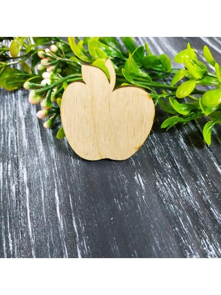 """Деревянная заготовка для броши """"яблоко"""""""