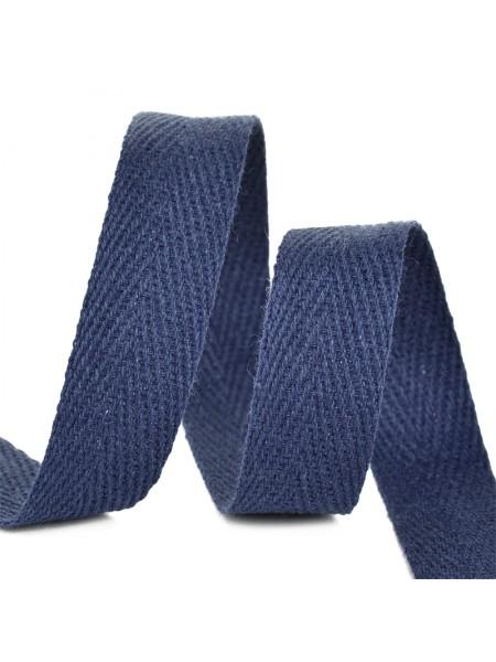 Лента хлопковая( киперная цв-тёмно-синий ),10мм,цена за 1 метр