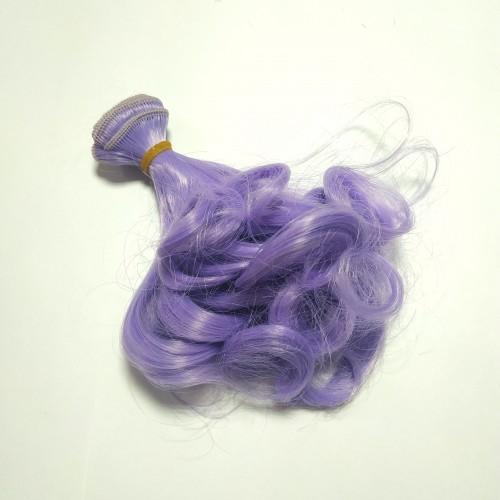 Трессы-кудри (волосы для кукол) -15см. цв-СИРЕНЕВЫЙ