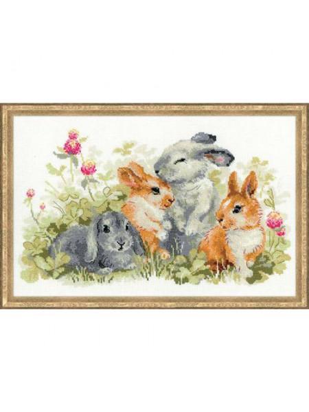 Набор для вышивания Riolis 'Забавные крольчата', 40*25 см