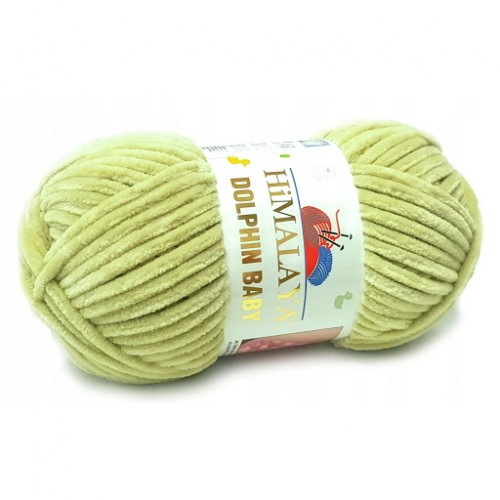 Плюшевая пряжа Долфин Бэби,цв светло-оливковый,№359,100гр