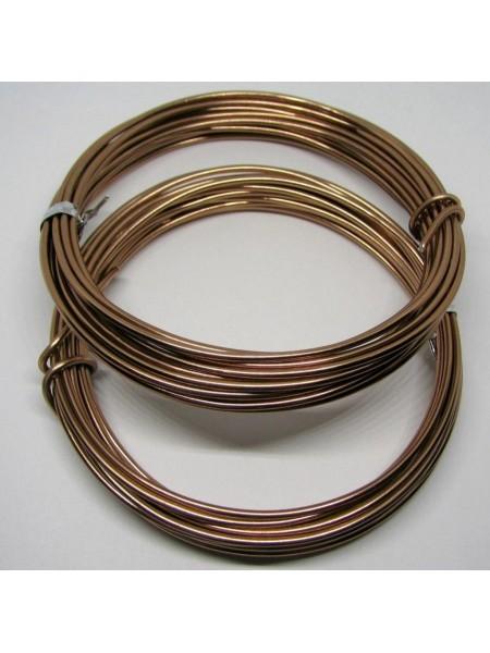 Проволока для плетения ,цв-коричневый-№2, 2мм.- 3м