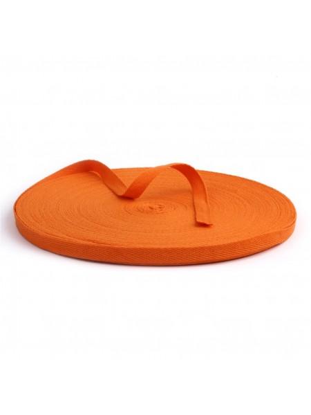 Лента хлопковая( киперная цв-оранжевый ),10мм,цена за 1 метр