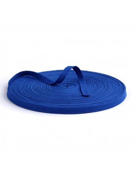 Лента хлопковая( киперная цв-синий ),10мм,цена за 1 метр