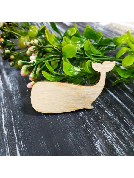 """Деревянная заготовка для броши """"кит"""""""