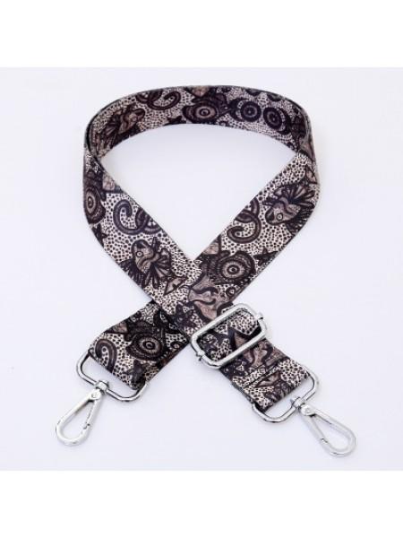 Ремень для сумки с карабинами,цв.карабина-серебро,3,8 см,дл140см