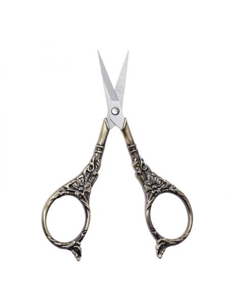 Ножнички для вышивки цветочные винтаж,цвет бронза, 11см