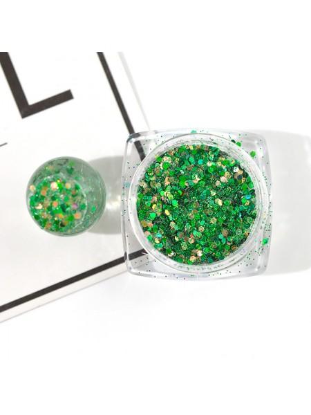 Декоративный наполнитель для смолы,цв-зеленый
