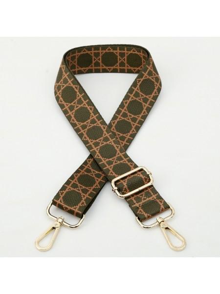 Ремень для сумки с карабинами,цв.карабина-ЗОЛОТО,3,8 см,дл140см
