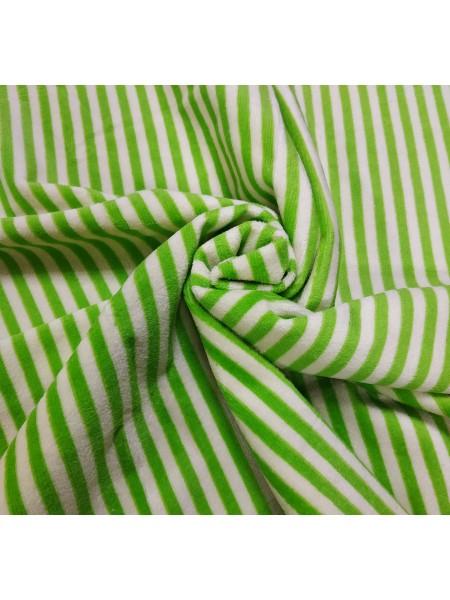 Велюр(плюш), зелёная полоска,50*50 см