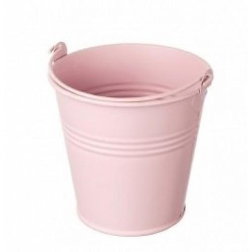 Ведёрко металлическое,цвет розовый,8см