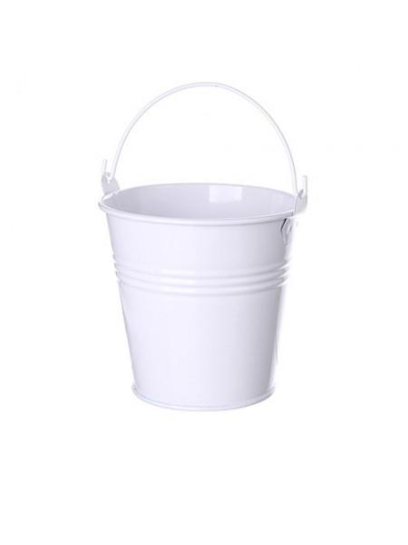 Ведёрко металлическое,цвет белый,8 см