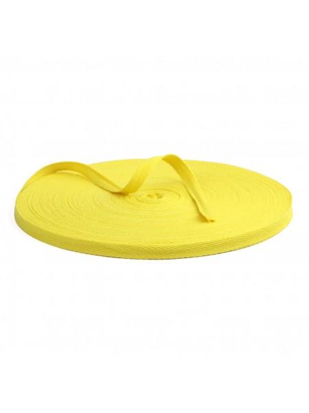 Лента хлопковая( киперная цв-жёлтый ),10мм,цена за 1 метр