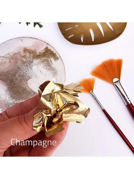 """Зеркальная поталь """"Mirror Shine"""", Champagne, 50шт. 9*9см,цена за 50 шт"""