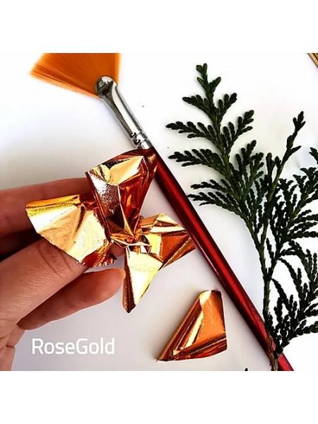 """Зеркальная поталь """"Mirror Shine"""",Rose gold, 50шт. 9*9см,цена за 50 шт"""