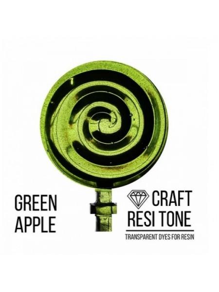 Прозрачный краситель для эпоксидной смолы-Зеленое яблоко,10мл