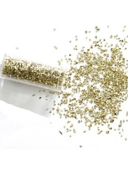 Декоративный наполнитель крошка,цв-светлое золото