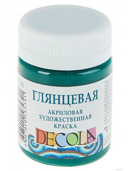 Глянцевая  акриловая краска Decola,цв.белый, 50мл
