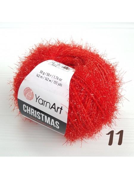 YarnArt Christmas Кристмас, 11-0582. цв-красный