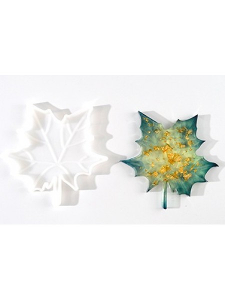 Молд подстаканник-лист клёна,12*12 см