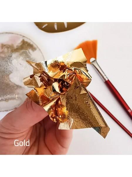 """Зеркальная поталь """"Mirror Shine"""", Gold, 50шт. 9*9см,цена за 50 шт"""