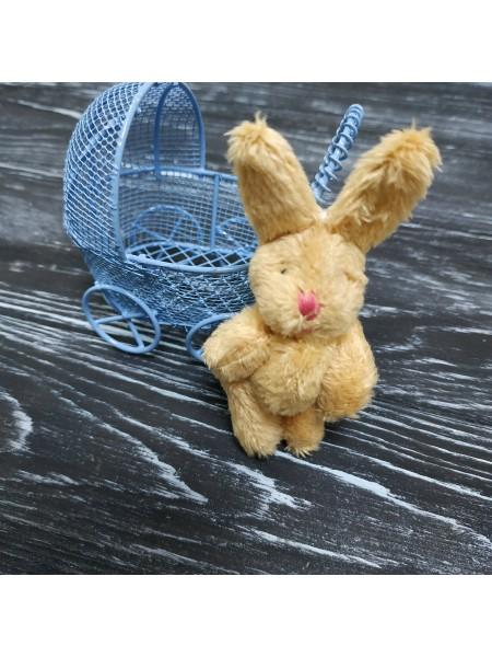 Игрушка для куклы(зайчик бежевый),6см