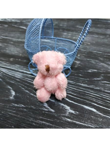 Игрушка для куклы(мишка розовый),6см